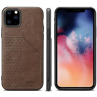 Wallet leather case card slot for samsung s10 khaki on1066