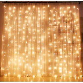 3*1M warm white twinkle star led window curtain string light x4015