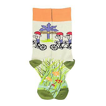 Monin tavoin polkupyörän sukat Sock Pandasta (adult medium)