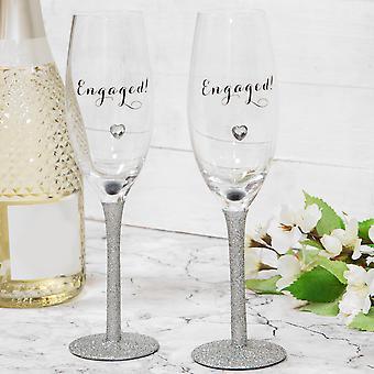 Célébrations Ensemble de 2 flûtes de Champagne - Engagé