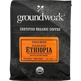 Groundwork Coffee Coffee Ethiopia Sngle Org, Case of 6 X 12 Oz