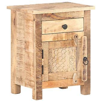 vidaXL Bedside Table 40x30x50 cm Rough mango wood