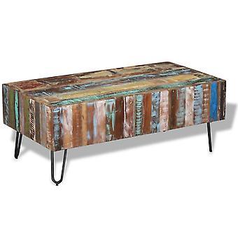 vidaXL soffbord återvunnet trä 100x50x38 cm