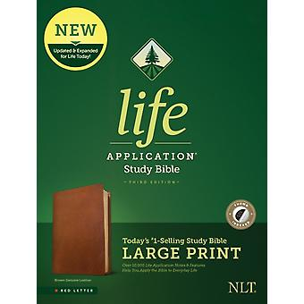 NLT Life Application Study Bible Third Edition Large Print by Edited by Tyndale