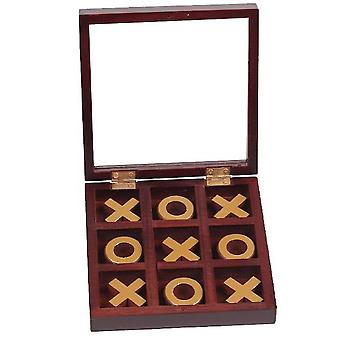 10 Piece Solid Wood Tic-tac-toe Board Game, Kids Toys