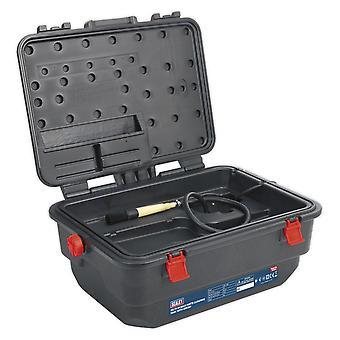 Sealey Sm222 Mobile Parts puhdistus säiliö harjalla