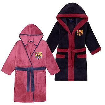 FC برشلونة بنين خلع الملابس ثوب رداء مقنعين الصوف الاطفال هدية كرة القدم الرسمية
