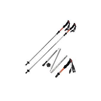 Foldable Walking Sticks, Ultra Light Hiking Poles for Outdoor Sport Trekking, 107 to 125 cm