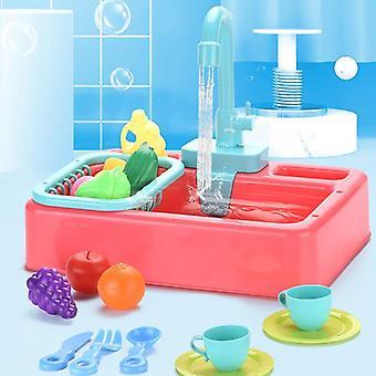 Lapset upottavat astianpesusetti-lelun