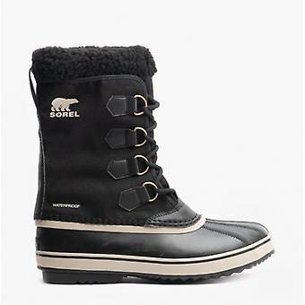 Sorel 1969 Pac Nylon Mens Nylon Waterproof Boots Black/ancient Fossil