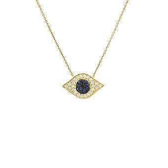 Eye Sparkle Collar Colgante Elíptico Oro