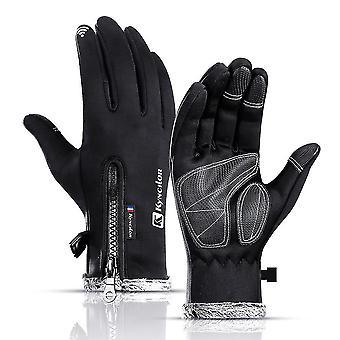 Zwarte m winter fietshandschoenen snowboard handschoenen waterdichte winddichte sneeuw handschoenen voor skiën schoppen lc533