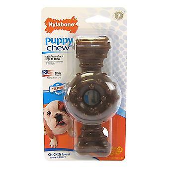 Nylabone Puppy Chew Texturerad Ring & Ben - Kycklingsmak - Varg (1 Förpackning)