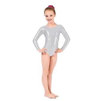 Купальники Детский металлик с длинным рукавом Танцевальный балет Купальники Шорты