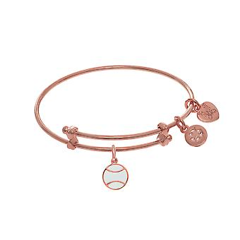 Softball Enamel Charm Adjustable Bangle Girls Bracelet