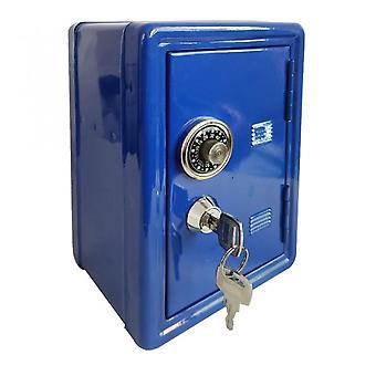 Säilytyslaatikko Rahalaatikko Avain rahalaatikko Metalli Turvallinen Säästö turvallinen Digitaalinen Säästöpossu Pankki pankki talletus setelin joulu lahja sininen