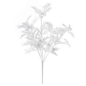 Fresh cut flowers festive holly leaf artificial plant