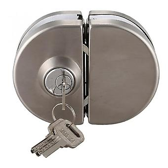 Locks latches 1 set double open glass door lock stainless steel double bolt sliding door lock 10-12mm office glass