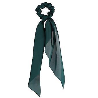 4PCS Blumendruck Schleife Satin Lange Band Pferdeschwanz Schal Haar Krawatte Scrunchies Frauen Mädchen Elastische Haare