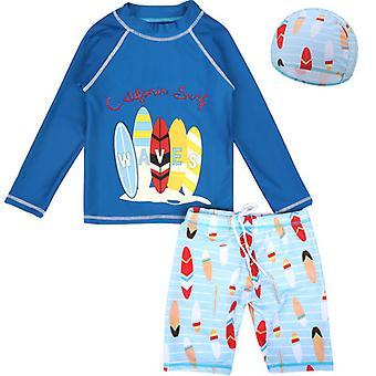 الأولاد اثنين قطعة ملابس السباحة طويلة الأكمام ملابس السباحة ملابس السباحة