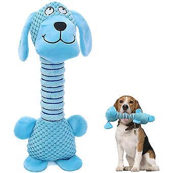 Plyšové psí hračky s dlouhým krkem Interaktivní pes pískající hračky (pes)