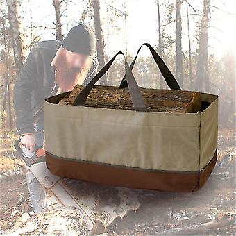 Evago Evago Store oppbevaringsposer 2 Håndtak, Kraftig, Stående, Vanntett, Foret Ved Tote Bag Perfekt for bæring av tre, Camping og bål