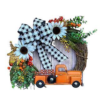 Maalaistalon kurpitsa kuorma-auto seppele syksy luonto koristelu Halloween etuovi roikkuu koriste