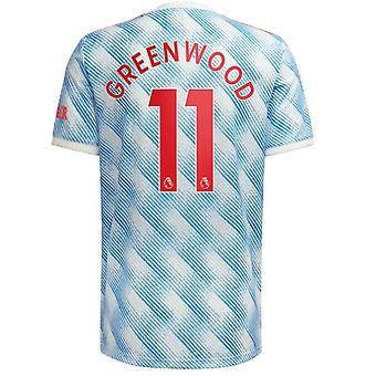 メンズ#11グリーンウッドフットボールニュージャージーニュージャージーシーズンMnchester 2021-2022ユナイテッドサッカージャージーTシャツサイズS-xxl
