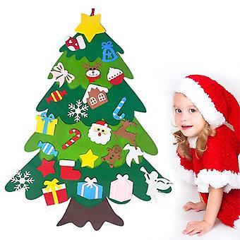 フェルトクリスマスツリー - 子供のためのDIYセット、クリスマスツリーの装飾