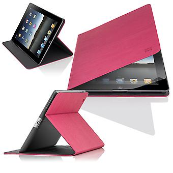 Slim kąt etui dla Apple iPad 2 3 4 - Hot Pink