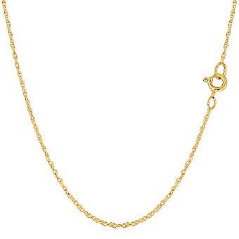 14 k gul guld reb kæde halskæde, 0,9 mm