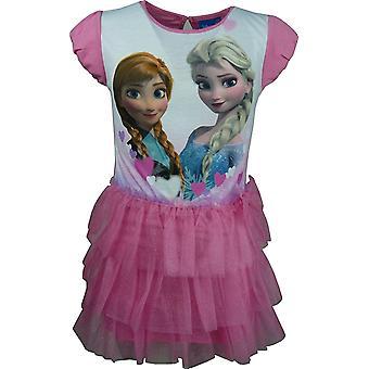 Disney замороженные девочек Эльза & Анна модные короткие платья