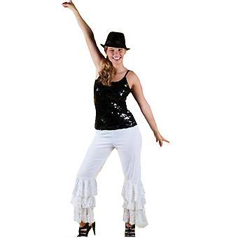 Menn kostymer kvinner Disco bukser unisex abba svart