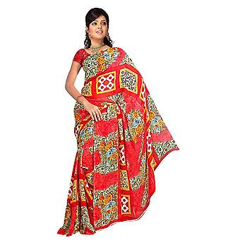 Banhi Georgette trykt Casual Saree Sari Bellydance stof