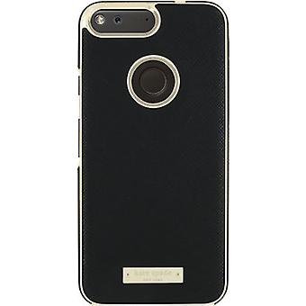 kate spade new york Saffiano leather Wrap Case for Google Pixel XL - Saffiano Black/Gold
