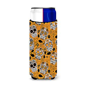 Day of the Dead Orange Michelob Ultra Hugger for slim cans