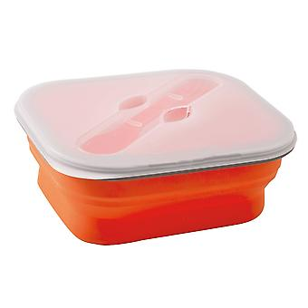 Brunner Foldable Silicone Snack Box With Fork (1 Litre)
