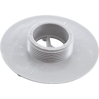"Aquastar 415T103 4"" Sumpless Bulkhead 1.5"" MPT Wall Fitting - Light Gray"