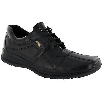 Cotswold Cam hombres cuero impermeable Oxford Casual zapato negro