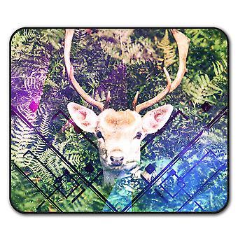 Christmas Deer  Non-Slip Mouse Mat Pad 24cm x 20cm | Wellcoda