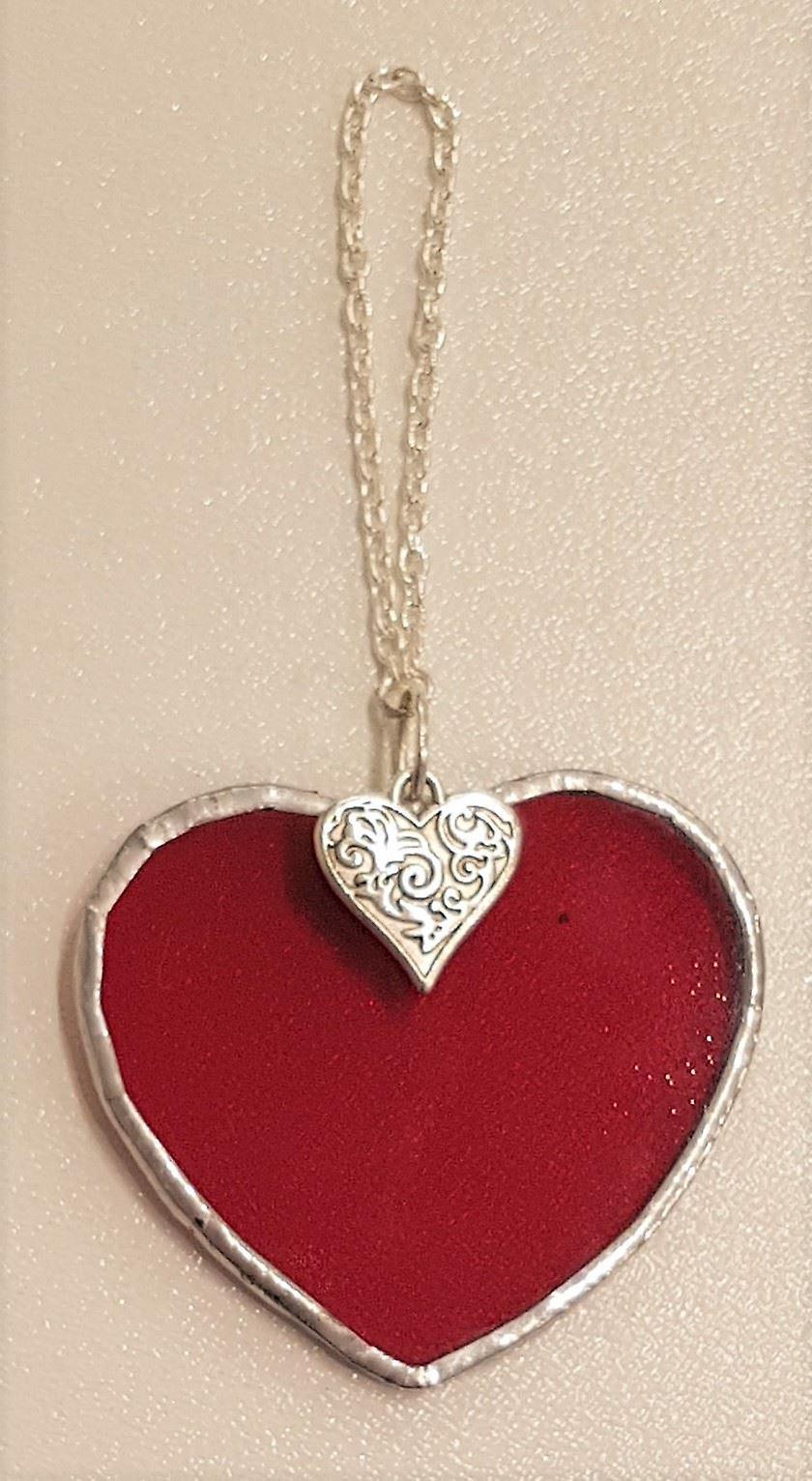 Simmerdim Design Small Dark Red Heart