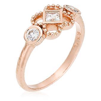 Orphelia sølv 925 Ring Rose Zirconium ZR-6032/1