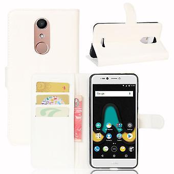 Bolso carteira premium branco-para WIKO Upulse Lite proteção luva capa case bolsa nova