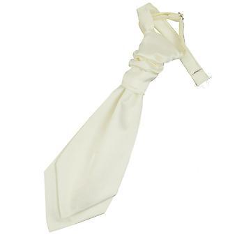 Elfenbein Plain Satin Hochzeit bereits gebundene Krawatte für jungen