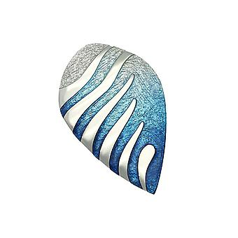 Argent sterling traditionnel Mirage moderne contemporain Design Broche - émail de verre à chaud