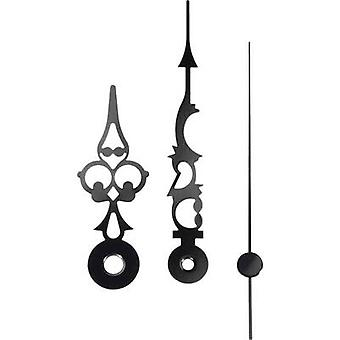 Clockhand set Antique finish Aluminium Black Round