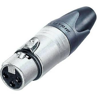 Conector Neutrik NC3FXX XLR enchufe, recta número de pernos: 3 plata 1 PC