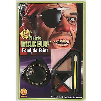 Pirate capitaine fardée Jack Sparrow Carribbean Mens Costume maquillage & bandeau sur le œil