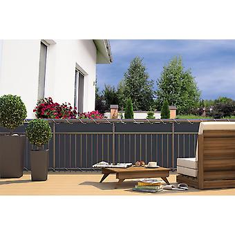 Balcony privacy balcony covering grey ANTHRACITE 24 m cord dimensions: 600 x 90 cm polyester