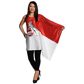1. FC Köln Flaggenkleid Kostüm Original für Erwachsene